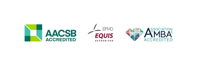 AACSB, EQUIS en AMBA accreditations (Triple Crown)