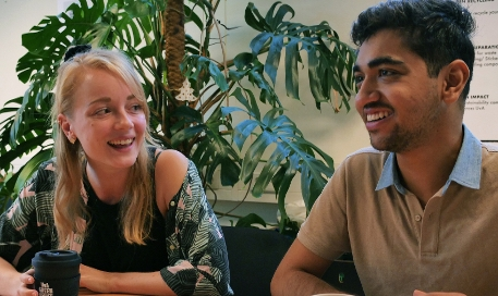 UvA Green Office, Satyam Kathpalia en Julia Dalibor