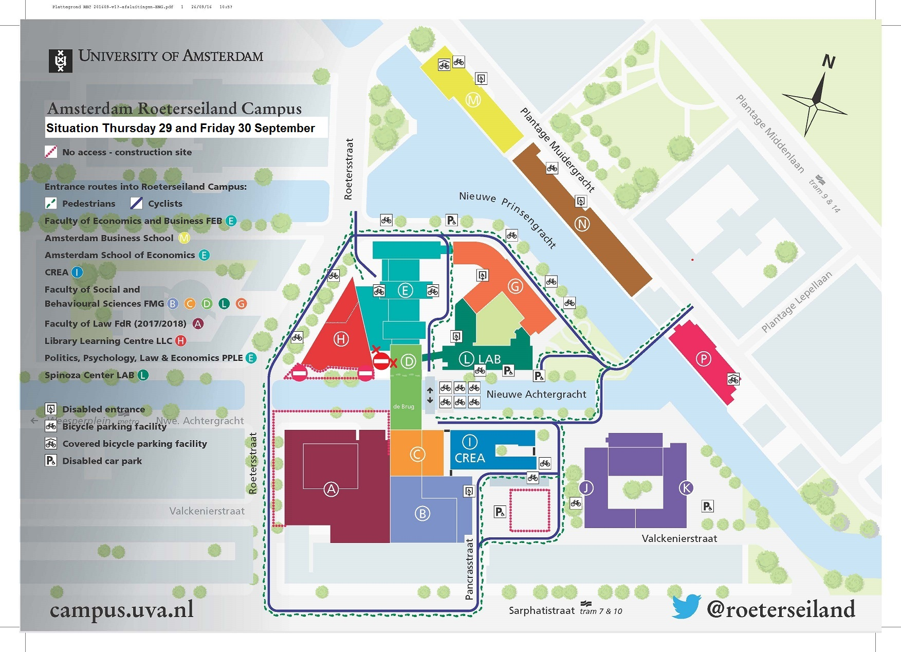 Entrance to de closed on 29 and 30 september uva students enlarge map publicscrutiny Images